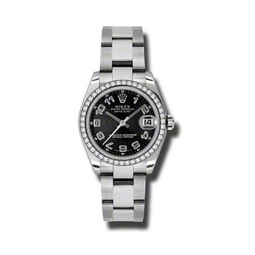 Oyster Perpetual Datejust 31mm Diamond Bezel 178384 bkcao
