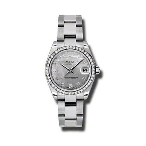 Oyster Perpetual Datejust 31mm Diamond Bezel 178384 wgdmdao