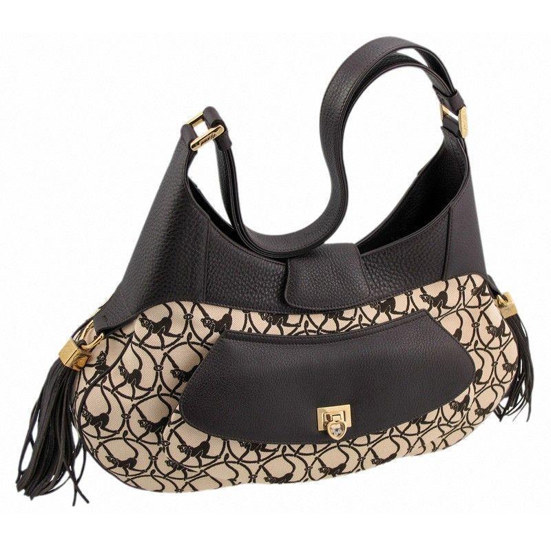 Mardrid Brown & Camel-Colored Calfskin Leather Bag 95000-0308