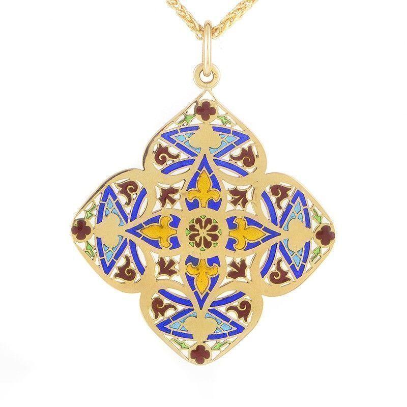 Chaumet 18K Yellow Gold Enhancer Pendant Necklace
