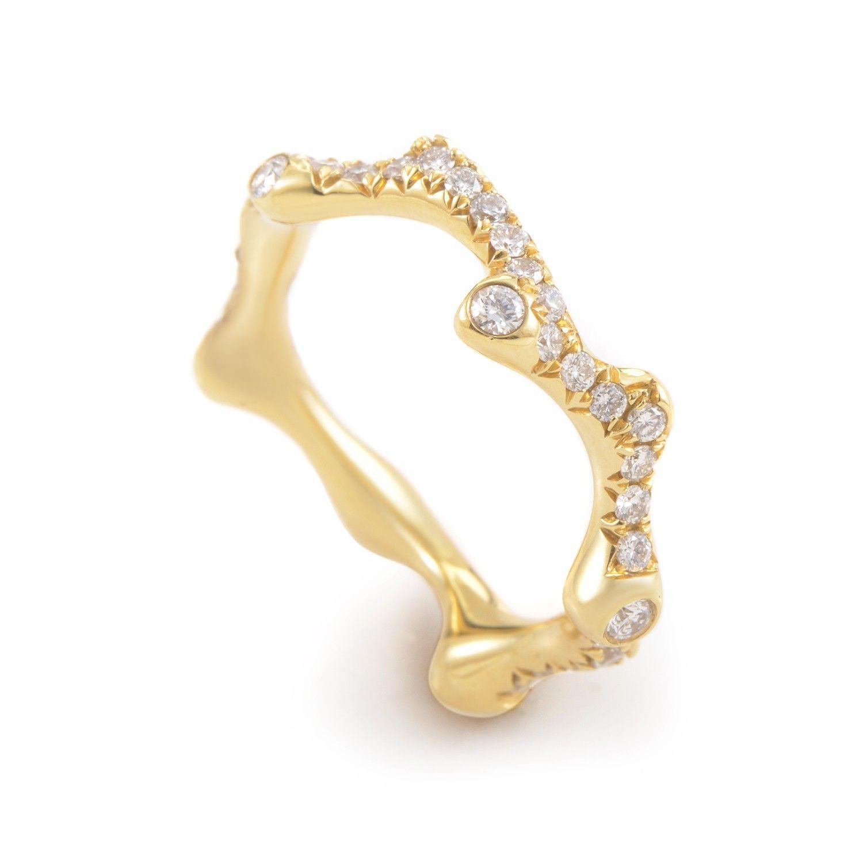 18K Yellow Gold Diamond Band Ring KOR211DZZ