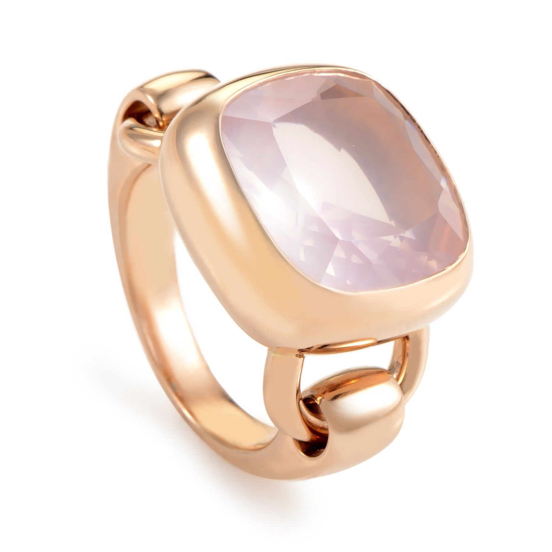 18K Rose Gold Pink Quartz Ring PPD3150