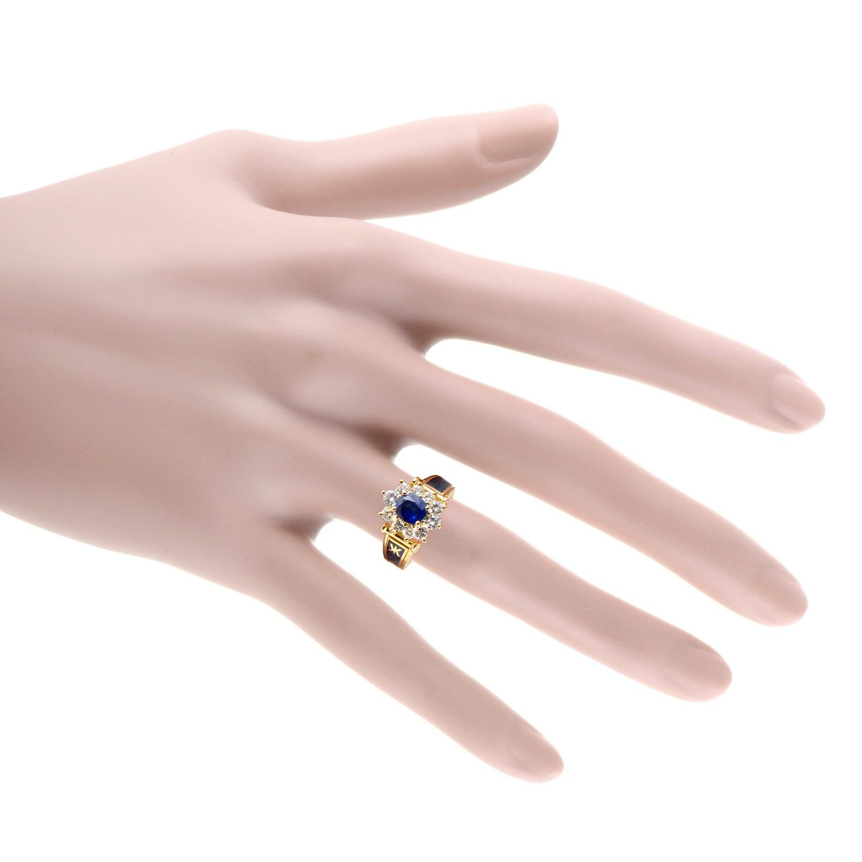 Korloff Women\'s 18K Yellow Gold Diamond and Sapphire Enameled Ring