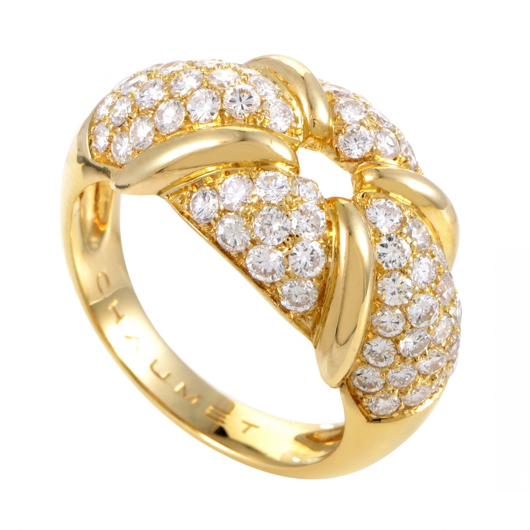 Chaumet Women's 18K Yellow Gold Diamond Pave Ring