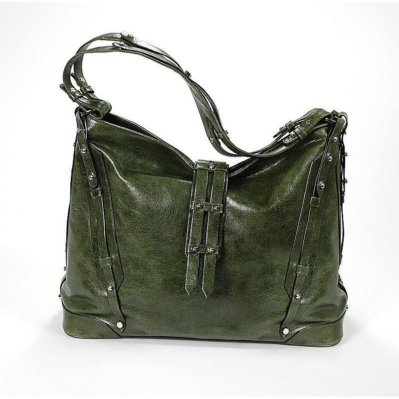 Large Madrid Olive Green Bag BAGOLIMCO.55.107L