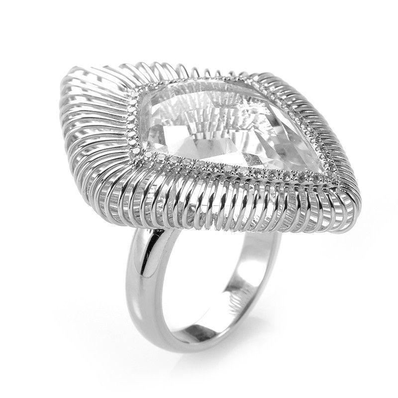 18K White Gold White Topaz Ring CRR9950