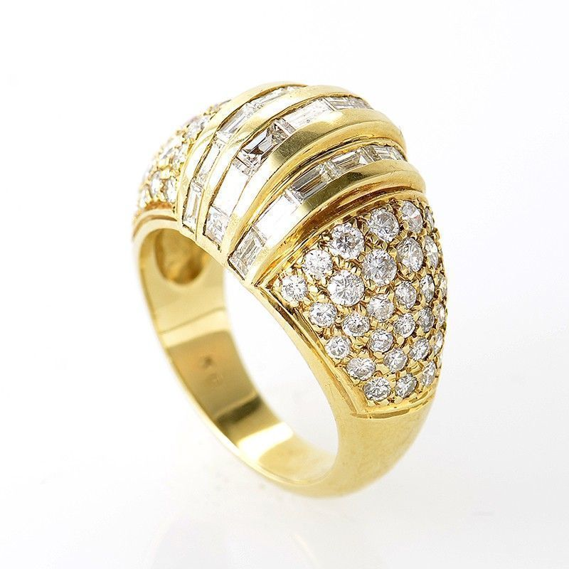 18K Yellow Gold Multi Diamond Ring