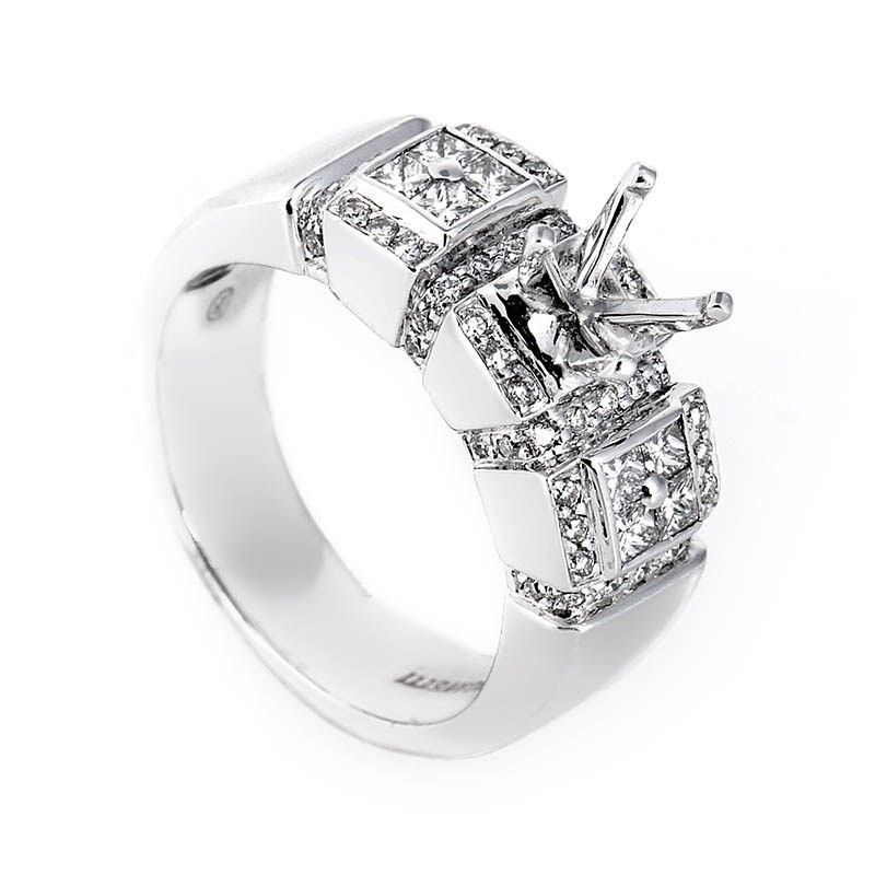 Brilliant 18K White Gold Mounting Ring
