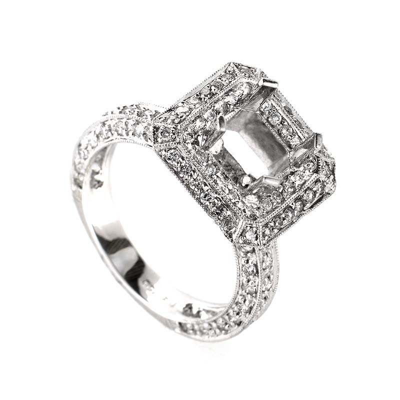 18K White Gold Diamond Mounting Ring CRD9464