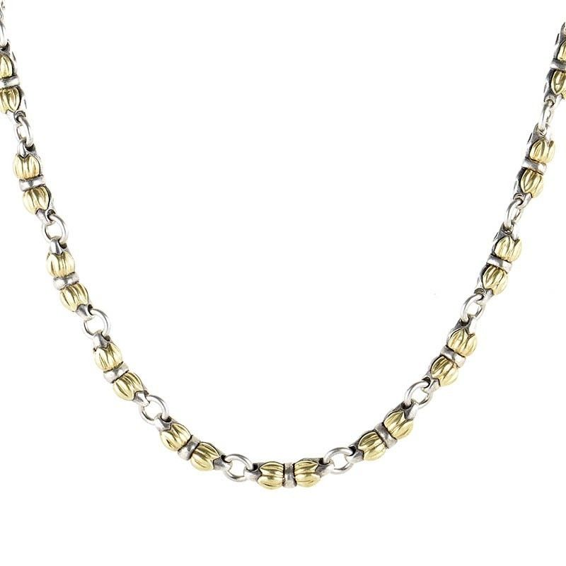 Silver and 18K Yellow Gold Necklace