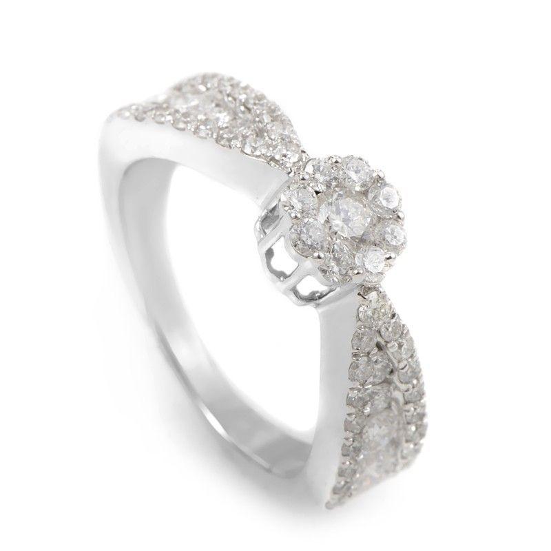 14K White Gold Diamond Promise Ring SVR010941OOW