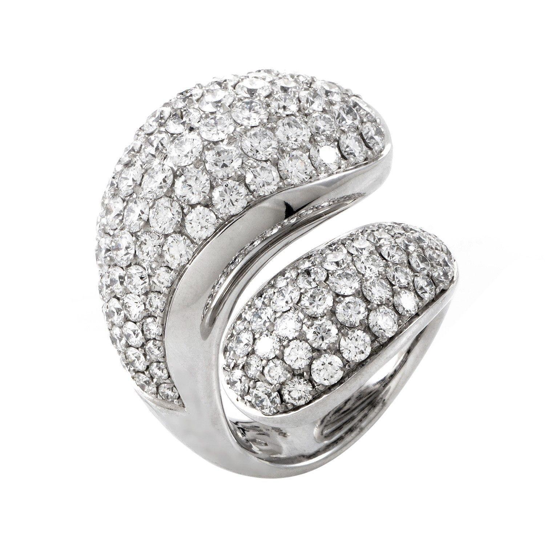 Contrario Full Diamond White Gold Ring