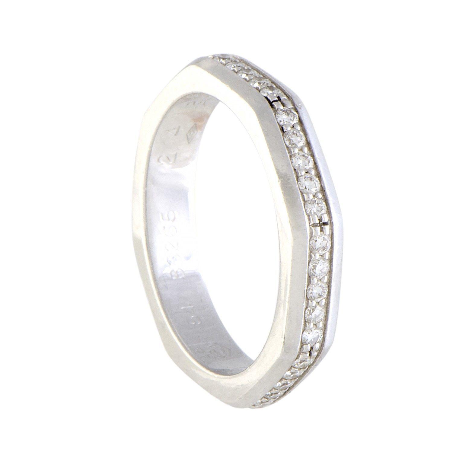 Audemars Piguet Royal Oak 18k White Gold Diamond Pave Eternity Band Ring