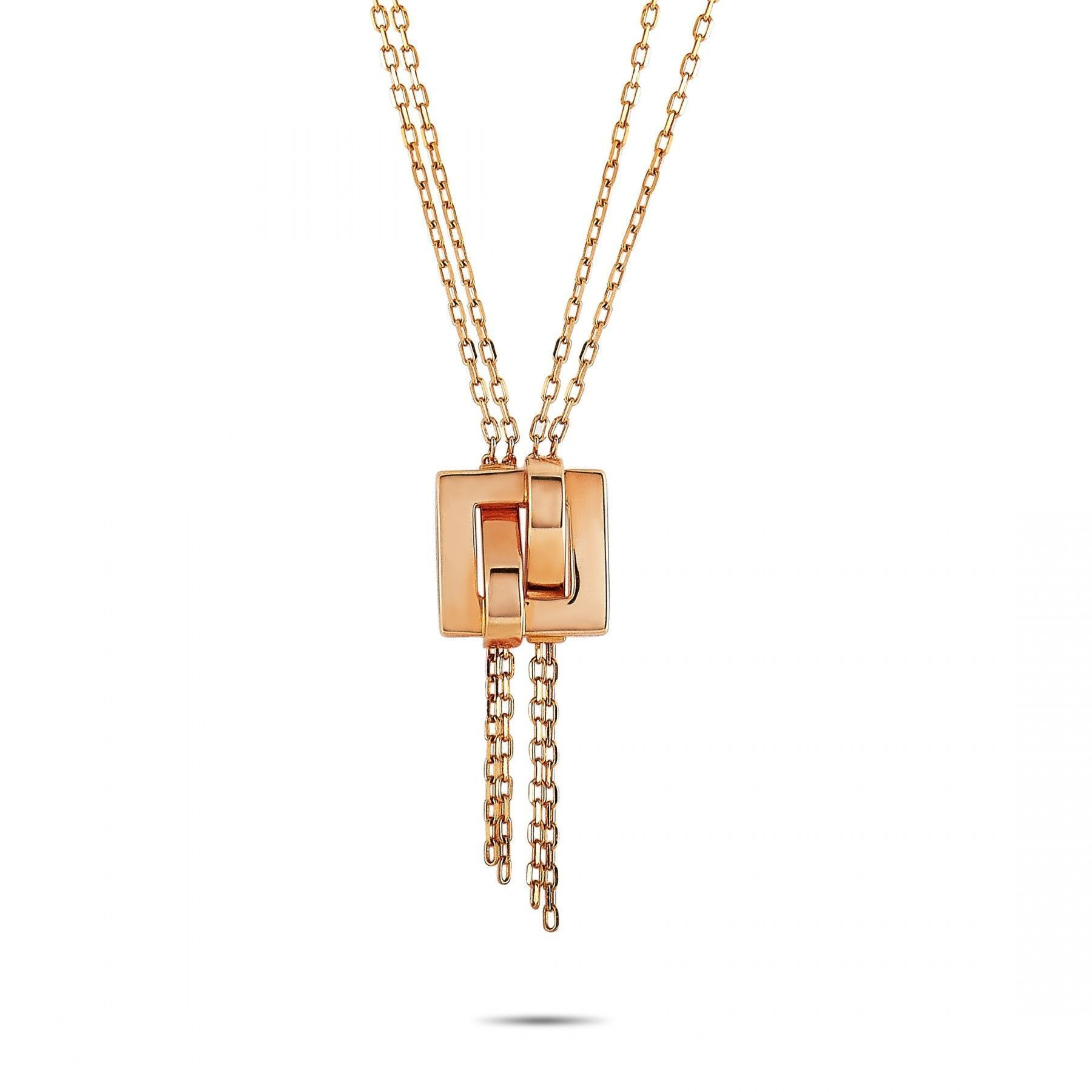 Boucheron 18K Rose Gold Pendant Necklace | Luxury Bazaar | www.luxurybazaar.com