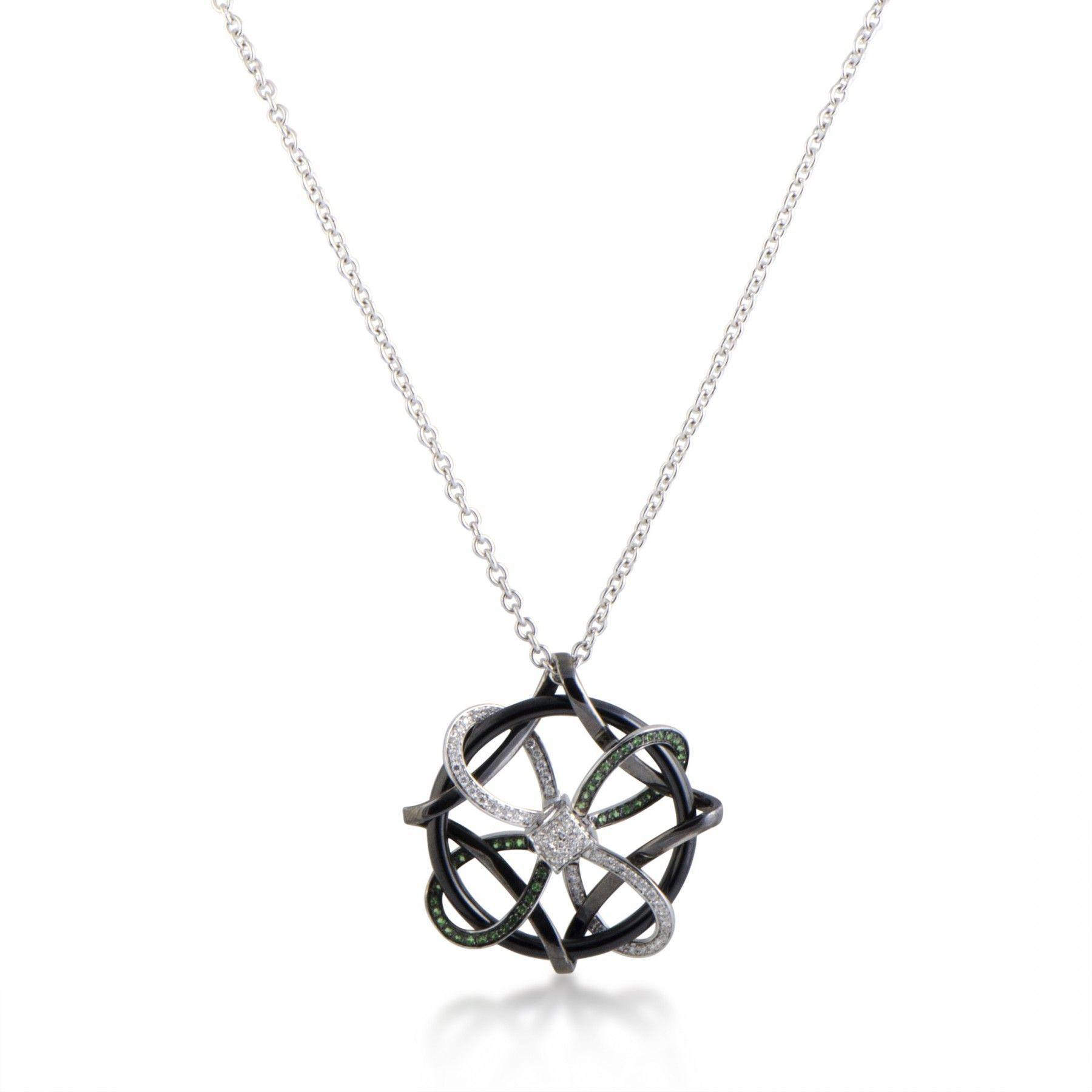 gianni lazzaro 18k white gold  black rhodium diamond and