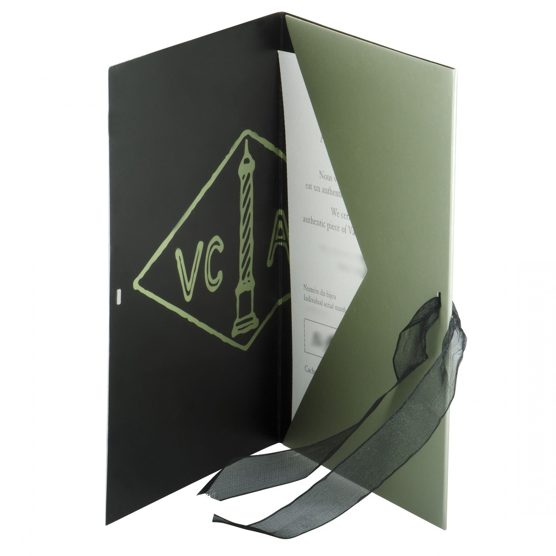 Van Cleef & Arpels Lotus 18K White Gold Diamond Medium Pendant Necklace