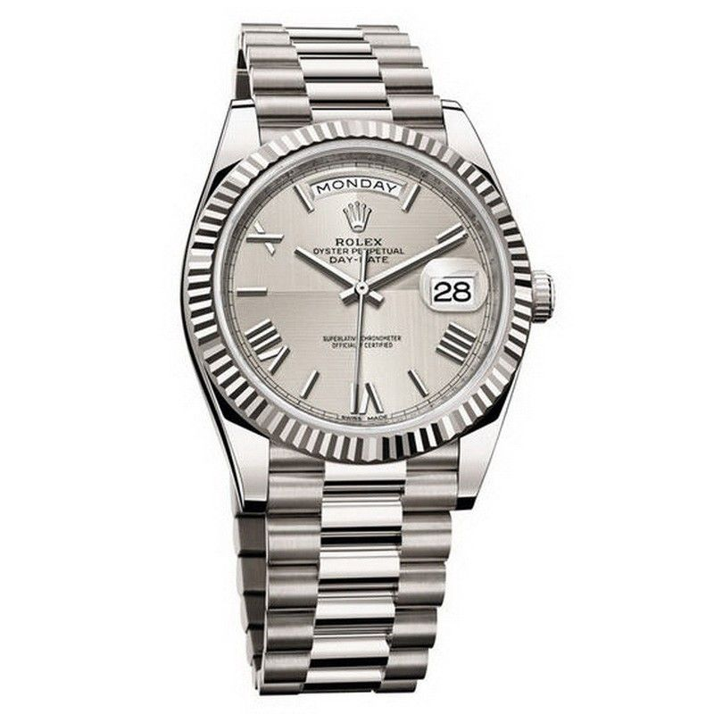 109fd2c24cf0b Shop Rolex Oyster Perpetual Day-Date 40 228239 (White Gold) for only ...