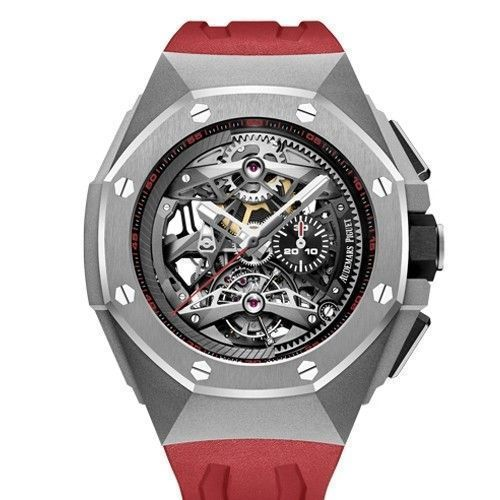 02c41a1b396 Audemars Piguet Royal Oak Concept TOURBILLON CHRONOGRAPH OPENWORKED  SELFWINDING 44mm Watch 26587TI.OO.D067CA.01 | Luxury Bazaar |  www.luxurybazaar.com