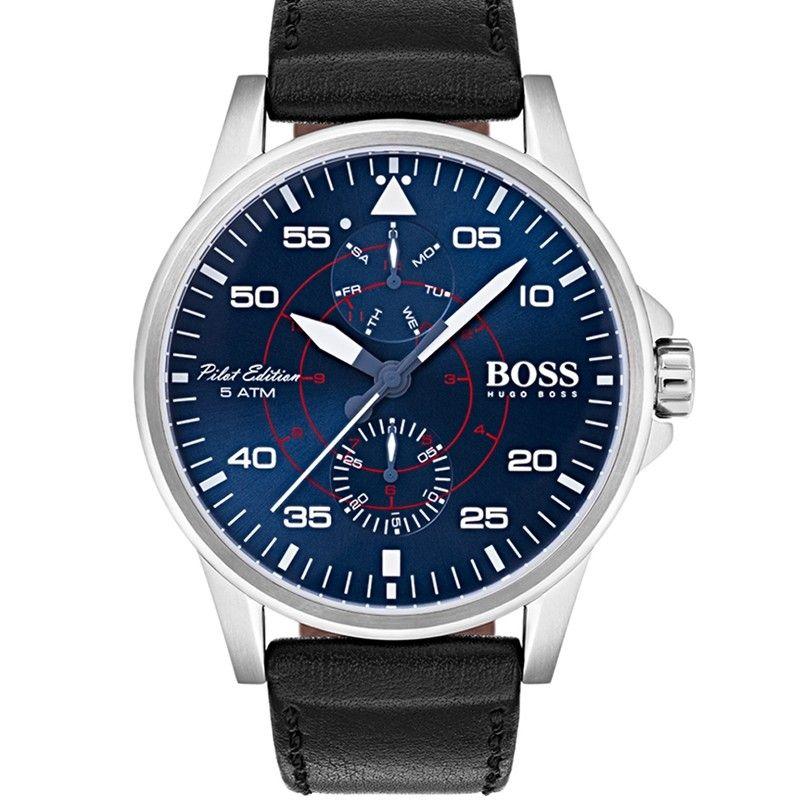 856800e78 Hugo Boss Aviator Casual Sport Men's Watch Blue 1513515 | Luxury ...