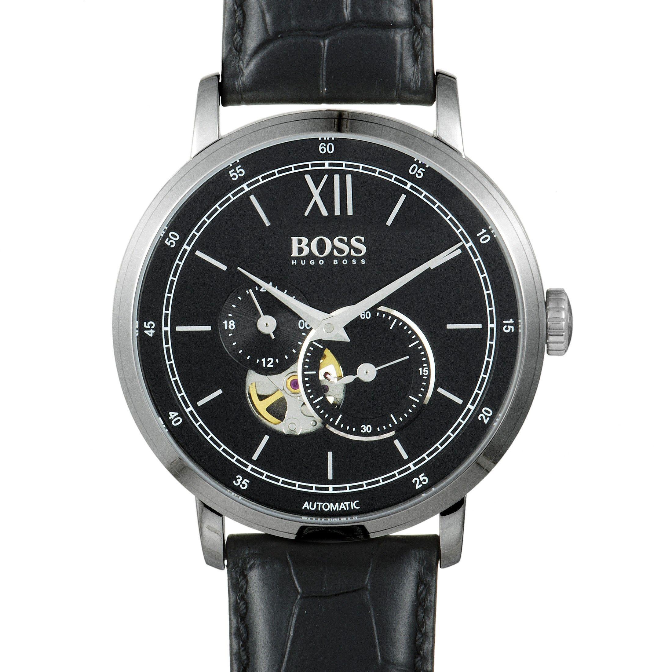 0e73a0932 Hugo Boss Signature Men's Watch Black 1513504 | Luxury Bazaar |  www.luxurybazaar.com