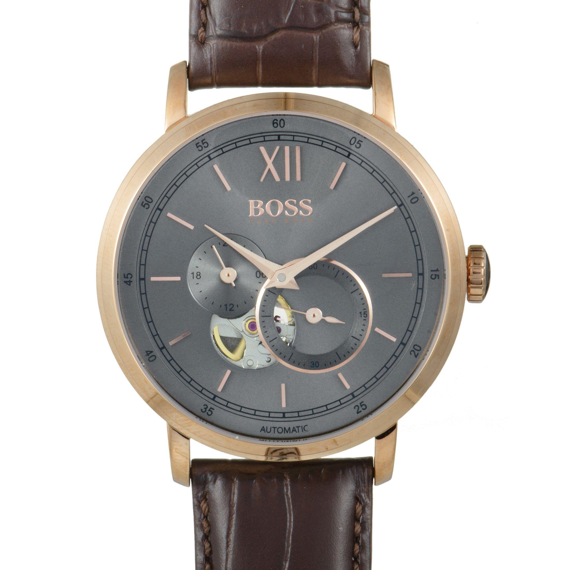 Hugo Boss Signature Men S Watch Brown 1513506 Luxury Bazaar Www