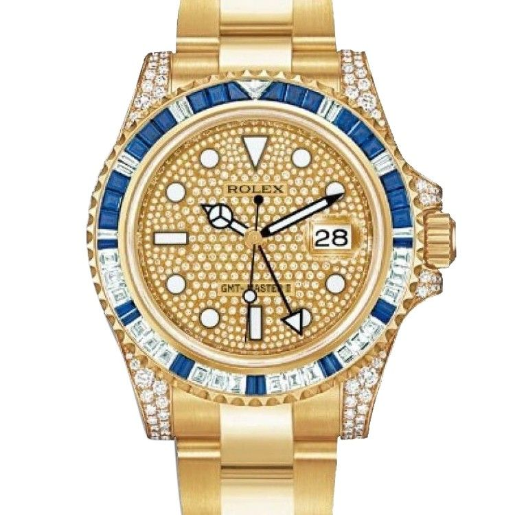 c590eaef7b5d27 ... Rolex GMT-Master II 116758SA pave ...