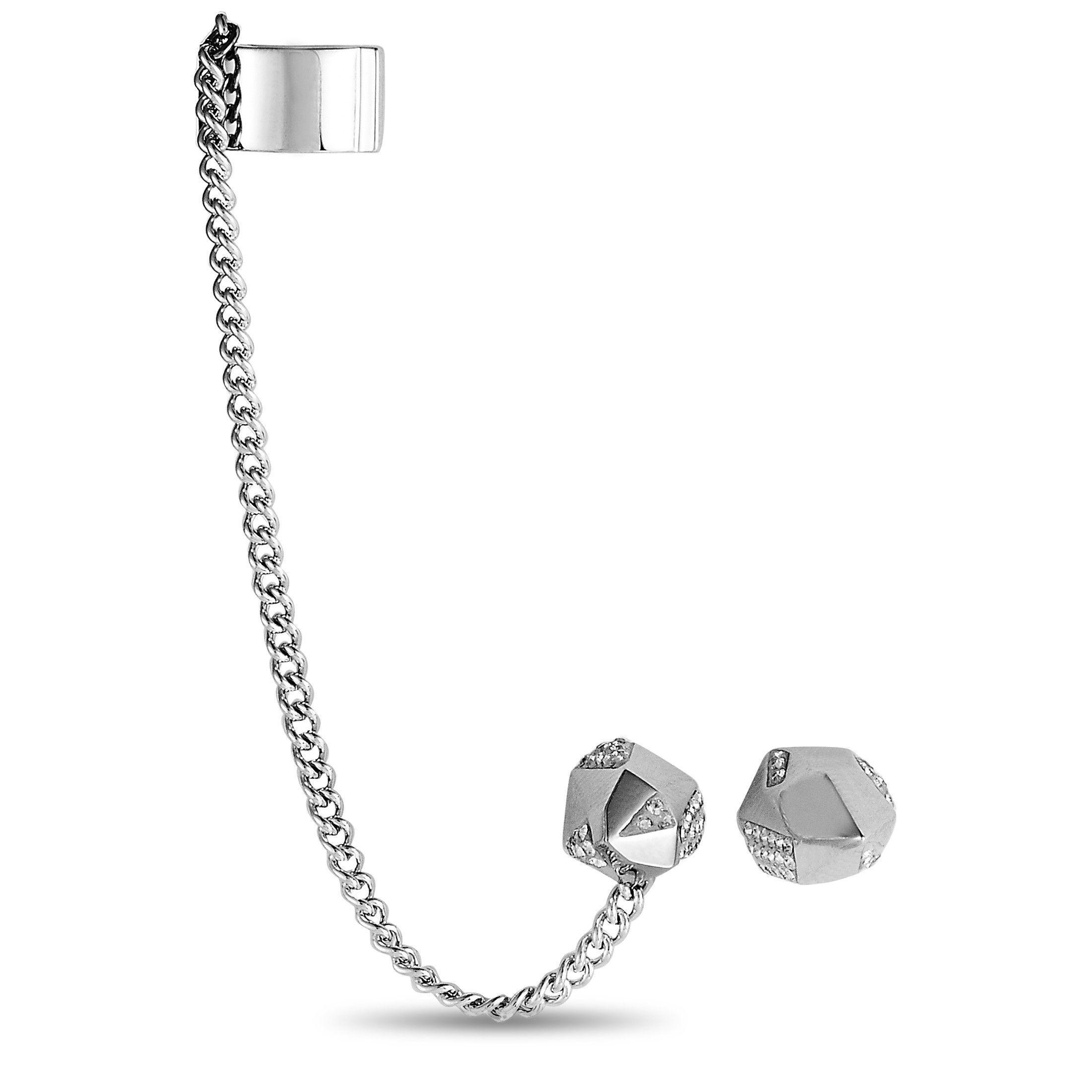 Swarovski Jean Paul Gaultier For Atelier Crystal Reverse Hoop Push Back  Earrings