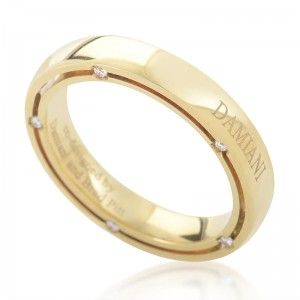 Damiani D.Side Brad Pitt 18K Yellow Gold 10  Diamond Band Ring 20008621