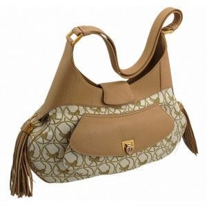 Chopard Mardrid Beige & Camel-Colored Calfskin Leather Bag 95000-0307