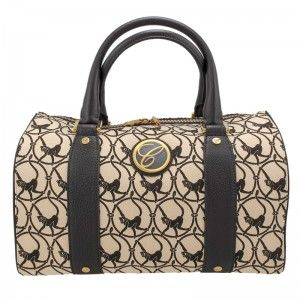 Chopard Milano Beige Cloth & Brown Leather Handbag 95000-0328