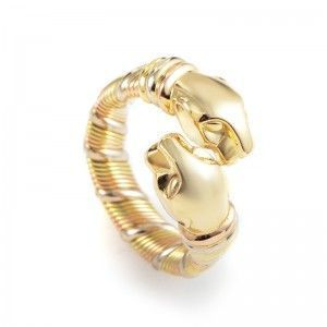 Cartier Panthere Women's 18K Tri-Gold Band Ring