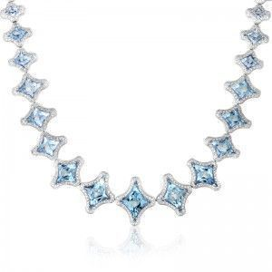 Chimento Marilyn Women's 18K White Gold Aquamarine & Diamond Necklace