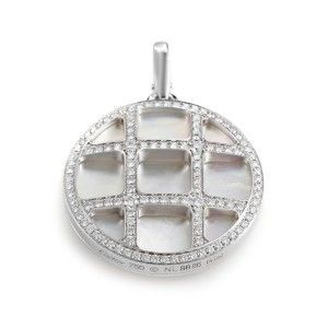 Cartier Pasha Women's 18K White Gold Mother of Pearl & Diamond Pendant
