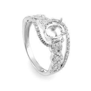 14K White Gold & Diamond Bridal Mounting 21906862