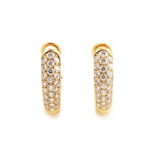 Cartier Women's Petite 18K Yellow Gold Diamond Pave Clip-on Earrings