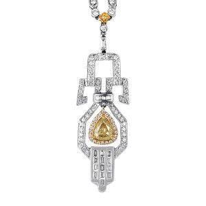 18K Multi-Tone Gold & Diamond Pendant Necklace MFC01-042016