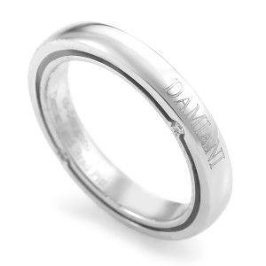 Damiani D. Side Brad Pitt Women's 18K White Gold Diamond Band Ring