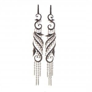 Stephen Webster Voyage Women's 18K White Gold Diamond Drop Earrings