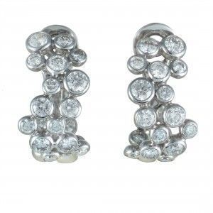 Fred of Paris Neige Womens 18K White Gold Diamond Clip-on Earrings