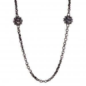 Stephen Webster Superstud Womens Blackened Silver Long Sautoir Necklace
