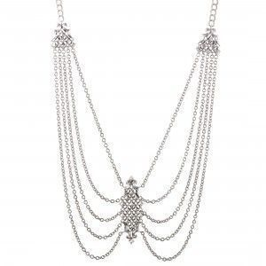 Stephen Webster Superstud Womens Silver Draping Chains Necklace