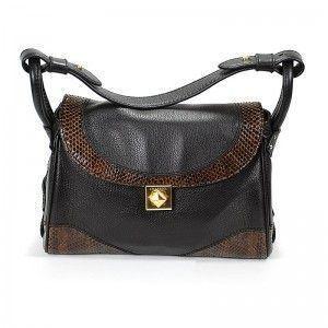 Charriol Escapade VII Santa Fe Dark Brown Leather Handbag BAGCNLECO.44.003