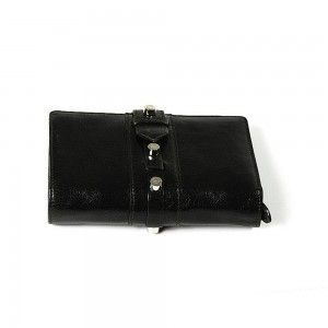 Charriol Olympia Black-Green Calfskin Wallet SLGOLIMCO.55.9204A