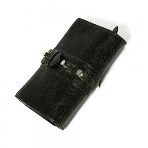 Charriol Olympia Dark Green Calfskin Wallet SLGOLIMCO.55.9204