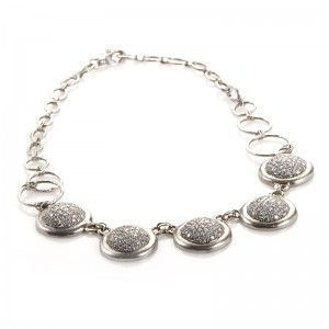 Gurhan Platinum and Diamond Pave Necklace