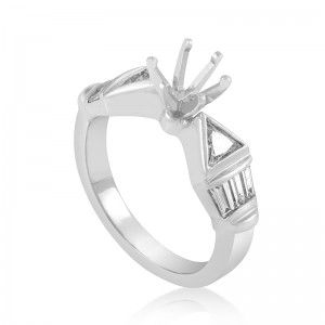 ~.90ct Platinum Diamond Engagement Ring Mounting