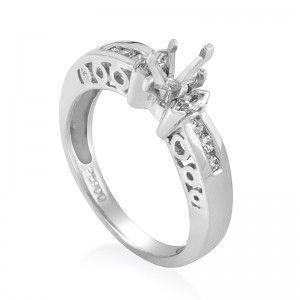 ~.25ct Platinum Diamond Engagement Ring Mounting