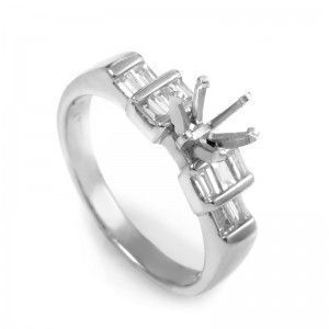 ~.60ct Platinum Diamond Engagement Ring Mounting