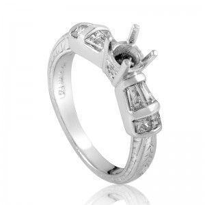 ~.50ct Platinum Diamond Engagement Ring Mounting