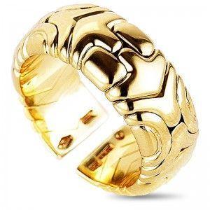 Bvlgari Alveare 18K Yellow Gold Band Ring